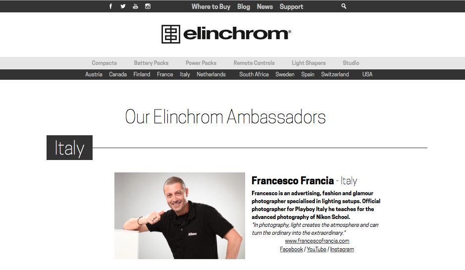 francesco francia Elinchrom Ambassador