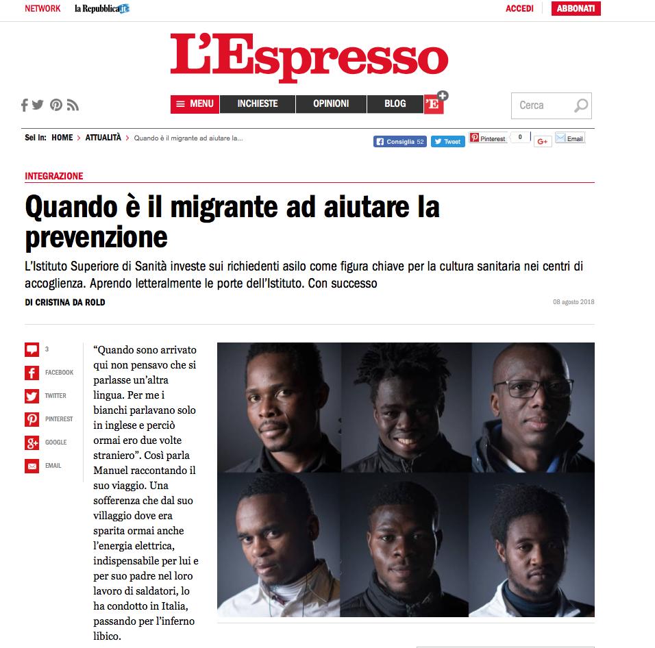 Francesco Francia fotografia di ritratto - fotografo ritrattista - Scienza Senza Frontiere - Ritratti all' Istituto superiore di sanità